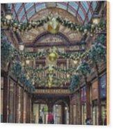Christmas Arcade Wood Print