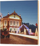 Christmas In Ribeira Grande Wood Print