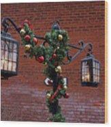 Christmas Lamps Wood Print