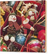 Christmas Ornaments Wood Print