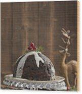 Christmas Pudding Wood Print