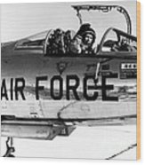 Chuck Yeager, Usaf Officer And Test Wood Print