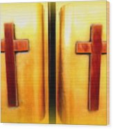 Church Doors Wood Print