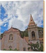 Church In Taormina Wood Print
