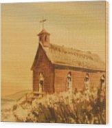 Church Manhattan Nevada Wood Print