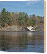 Chutes Falls Wood Print