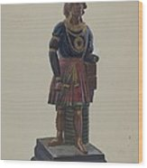 Cigar Store Indian Wood Print