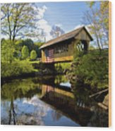 Cilleyville Bridge Wood Print