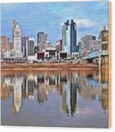 Cincinnati Reflects Wood Print