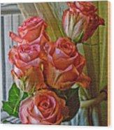 Cindy's Roses Wood Print
