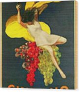 Cinzano Girl Wood Print