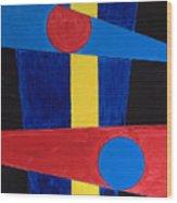 Circles Lines Color #5 Wood Print