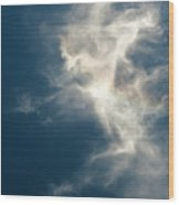 Cirrus Clouds With Nature Patterns  Wood Print