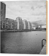city lofts and nv buildings salford quays Manchester uk Wood Print