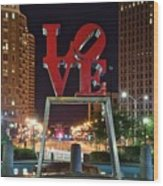 City Of Brotherly Love Wood Print