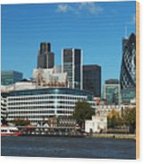 City Of London Skyline Wood Print