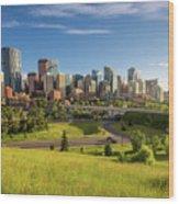 City Skyline Of Calgary, Canada Wood Print