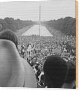 Civil Rights March On Washington D.c Wood Print by Everett