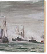 Civil War: Naval Battle Wood Print