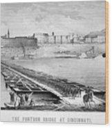 Civil War: Pontoon Bridge Wood Print