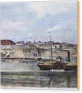 Civil War: Union Steamer Wood Print