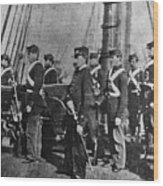 Civil War: Uss Kearsarge Wood Print