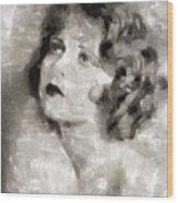 Clara Bow Vintage Hollywood Actress Wood Print