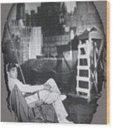 Clark Gable Mgm Sound Stage Circa 1932-2008 Wood Print