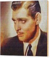 Clark Gable, Vintage Hollywood Actor Wood Print