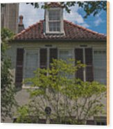 Clay Tile Roof Wood Print