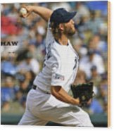 Clayton Kershaw, Los Angeles Dodgers Wood Print