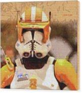 Clone Trooper Commander - Free Style Style Wood Print