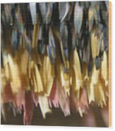 Close-up Of Luna Moth Wing Wood Print