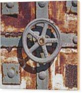Close Up View Of An Unusual Door That Is Part Of An Old Rundown Building In Katakolon Greece Wood Print