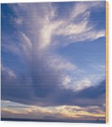 Cloud Formations Wood Print by Mary Van de Ven - Printscapes