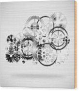 Cloud Made By Gears Wheels  Wood Print by Setsiri Silapasuwanchai