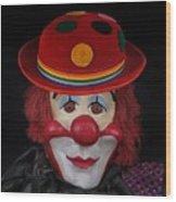 The Clown 3 Wood Print
