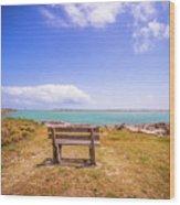 Coastal Landscape Near Padre Island Texas Wood Print