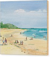 Coastal View Wood Print