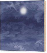 Cobalt Wood Print by Anne Norskog
