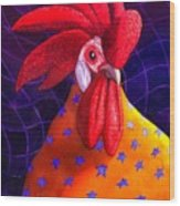 Cock A Doodle Dude Wood Print