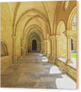 Coimbra Cathedral Colonnade Wood Print