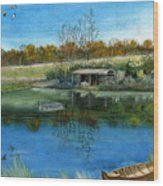 Cole Hill Pond Wood Print