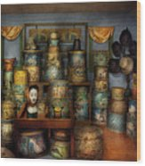 Collector - Hats - The Hat Room Wood Print by Mike Savad