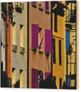 Collioure Street Wood Print