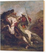 Collision Of Moorish Horsemen Wood Print