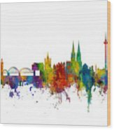 Cologne Germany Skyline Wood Print