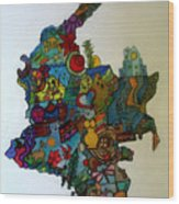 Colombia Wood Print by MikAn 'sArt