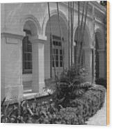 Colonial Architecture Wood Print