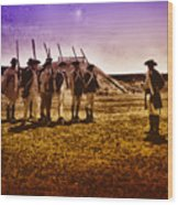 Colonial Soldiers At Fort Mifflin Wood Print